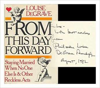 From This Day Forward, by author Louise De Grave